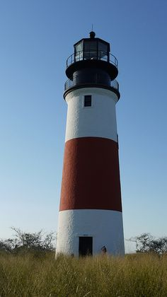 Sankaty lighthouse on the Eastern shore of Nantucket.