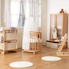 baby morris's new crib! Stokke Sleepi mini (this is the mini size which converts from mini bassinet (pictured) to crib, then to toddler/junior size, so can be used from 0-10 years!)
