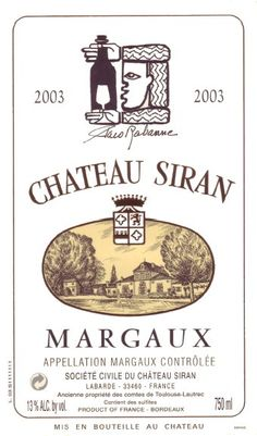 Chateau Siran Margaux, 2003 Toulouse, Bordeaux, French Wine, Wine Labels, France, Wineries, Charcuterie, My Coffee, Wine Tasting