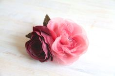 Vintage Millinery Flowers Silk Roses Handmade by BarcelonaDecoLab