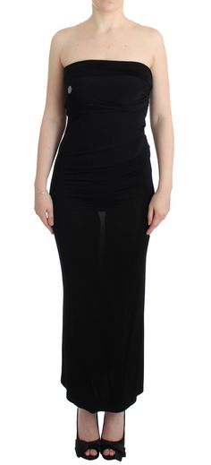 #Cavalli #Dresses Black strapless maxi dress | #Black  JUST CAVALLI Gorgeous brand new with tags, 100% Authentic JUST CAVALLI black strapless maxi dress with elegand details. Model: Strapless Maxi Dress Color: Back Silver metal details Full length Logo details Material: 90% Viscose, 10% Elastane Original tags, zipper cover bag, and store bag follow   Brands Vice