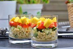 Vegetarische laagjessalade met bulgur