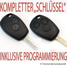Kompl. RENAULT CLIO MODUS Funkschlüssel mit 2 oder 3 Tasten!