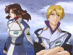 Mwu la Flaga and Murrue Ramius - Gundam Seed Destiny
