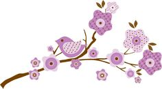 Kids tree branch vinyl wall decal in lilac purple. $44.00, via Etsy. Probably available in pink and not so overpowering as some of them are.