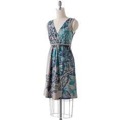 SONOMA life + style® Floral Braided Surplice Dress