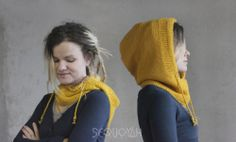 knitted hood вязаный капюшон