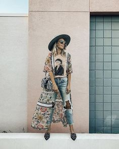 """e73d71614f0d JACLYN DE LEON ☀ on Instagram  """"Kimono obsessed 🖤 . I ve got my first igtv  video up all about styling kimonos to wear now and into the Fall."""