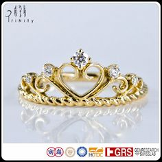 Check out this product on Alibaba.com App:Delicate Rings Design Antique Heart Crown Shaped Real Diamond Ring in Yellow Gold https://m.alibaba.com/vMryAn
