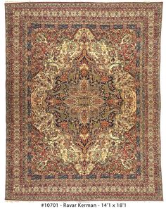 Ravar Kerman Antique Rugs  from Woven Accents