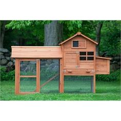 """the Clubhouse"" Coop With Run (up To 4 Chickens"