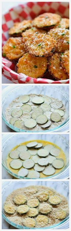 Zucchini Parmesan Crisps 1/2 cup vegetable oil 1 cups Panko* 1/2 cup grated…