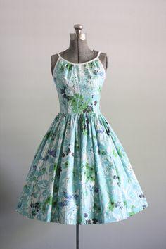 Vintage 1960s Dress / 60s Cotton Dress / by TuesdayRoseVintage