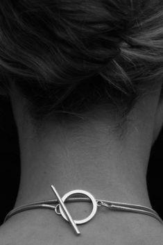 Sophie Buhai | Minimalist Toggle Closure on the Glass Bead Pendant