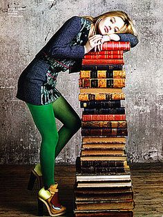 Use all of CSD stuff. (Stack books up, sit on them, lean against, bend down. So many pose ideas!)