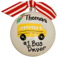 Personalized Bus Driver Ball Ornament, Special Occasions,Holidays,Ornaments,Personalized Bus Driver Ball Ornament