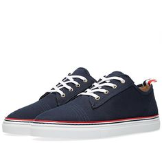 Thom Browne Tennis Shoe (Navy Canvas)