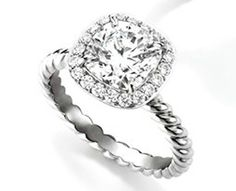 David Yurman Engagement Ring (one of my favorites by him).