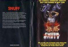 Snuff VHS Cover