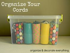 Organize & Decorate Everything: Organize Your Cords