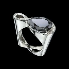 Sempre Black Diamond Ring by Adam Neeley