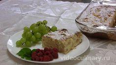 Творожная запеканка с яблоками от videoculinary.ru