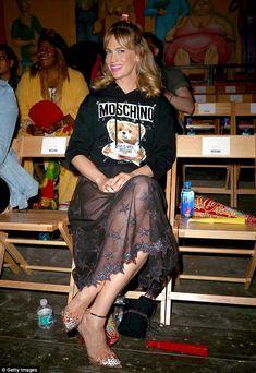 A big fan! Mad Men beauty January Jones, 40, flaunted her love of the fashion brand by wea...