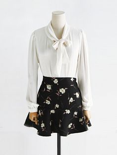 August Flash Sale 50% OFF---Manchester English Flower Skirt with Zipper