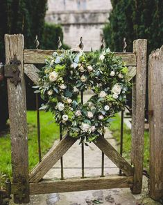 Sharing some floral love today with this heart wreath we created for Rory and Liane's Somerset winter wedding Spring Wedding Colors, Winter Wedding Flowers, Summer Wedding, Garden Gates And Fencing, Fences, Blooms Florist, Wedding Wreaths, Wedding Decor, Wedding Ideas