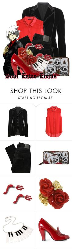 """""""Soul Eater Evans from Soul Eater"""" by likeghostsinthesnow ❤ liked on Polyvore featuring Bottega Veneta, H&M, Nobody Denim, claire's and Robert Clergerie"""