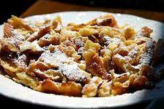 Diétás császármorzsa  60 g zabkorpa 100 g zsírszegény túró 2 egész tojás 1 tojásfehérje édesítő Apple Pie, Macaroni And Cheese, Vegetarian, Dishes, Ethnic Recipes, Desserts, Vienna, Food, Kaiserschmarrn