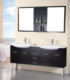 Modern double sink vanity Fresca Tustin Modern Double Sink Bathroom Vanity Dec078 By Design Element Double Sink Vanity Double Sink Pinterest 152 Best Double Modern Bathroom Vanities Images Discount Bathroom