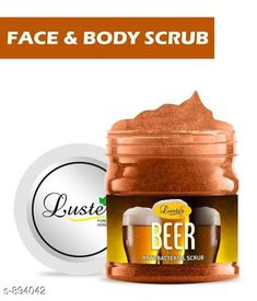 Face Premium Choice Face Care Gel Scrub  *Product Name* Luster Beer Face & Body Gel Scrub  *Product Type* Gel Scrub  *Capacity* 500 ml  *Description* It Has 1 Pack Of Beer Face & Body Gel Scrub  *Sizes Available* Free Size *   Catalog Rating: ★4.3 (4639)  Catalog Name: Sensational Choice Face Care Products Vol 11 CatalogID_104603 C52-SC1251 Code: 971-894042-