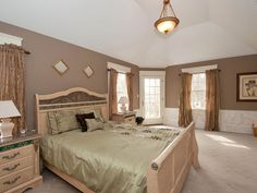 Master Bedroom of a home we staged in Bayport NY