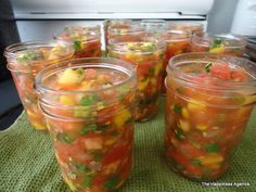 Spicy Mango Salsa Recipe ~ Homemade Goodness to wow your taste buds this of July Mango Salsa Canning Recipe, Mango Salsa Recipes, Spicy Mango Chutney Recipe, Mexican Food Recipes, New Recipes, Cooking Recipes, Favorite Recipes, Mexican Cooking, Yummy Recipes