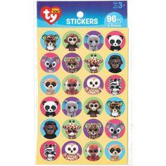 Beanie Boos Jungle Stickers 96/Pkg
