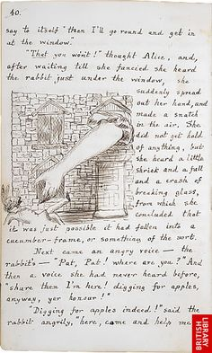 Original MS of Lewis Carroll's Alice's Adventures Under Ground, page 40
