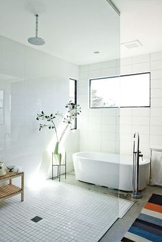 contemporary bathroom (via Dwell - yerinmok) - my ideal home...