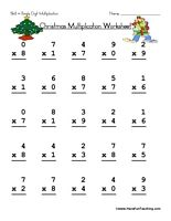 Printables Single Digit Multiplication Worksheets Printable Free christmas single digit subtraction worksheet multiplication have fun teaching