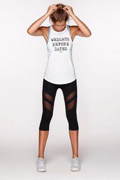 Weights Before Dates Tank | http://www.lornajane.com.au/011608/Weights-Before-Dates-Tank #lornajane #activewear