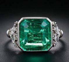 925 Sterling silver CZ Asscher Art deco Black Friday special sale Engagement HOT…