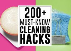 101 surprising cleaning tricks - Andrea's Notebook
