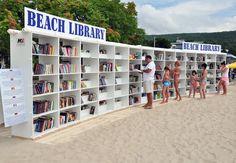 bibliothèque de plage - Anglet - France - plage des corsaires