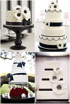 Decoraciones para bodas en blanco y negro: Pasteles de boda. Una delicia tras otra en B