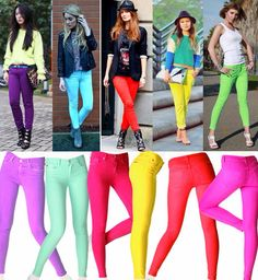 Try and keep neon colours away from your face!