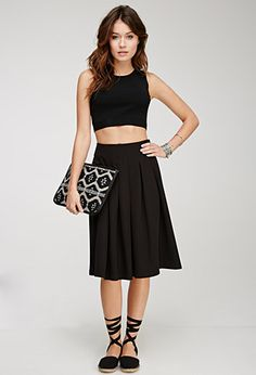 Box Pleat A-Line Skirt   Forever 21 - 2000132180