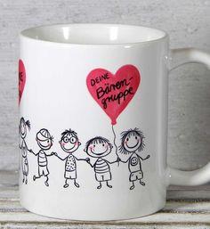 **Erzieherin Kindergärtnerin Abschied Geschenk Tasse** mit individueller Personalisierung von _My-SweetHeart®_ Diese süße Tasse eignet sich super als Danke-Tasse für Kindergärtnerinnen als...