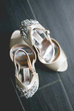 Badgley Mischka Bridal Wedding Shoes Crystals 120