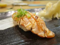 Grilled salmon tataki, part of the omakase at Sushi Kimagure (Pasadena)