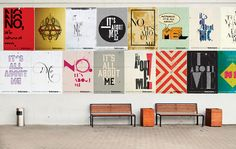 Leagas Delaney's typographic campaign for online beauty retailer Feel Unique. Posters were designed by Kerry Roper and Daren Newman